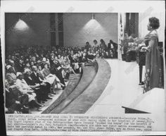 IN HER HOMETOWN, LAUREL, MS, 1963, SINGING TO AN INTEGRATED AUDIENCE.