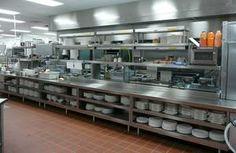 COMMERCIAL KITCHEN Restaurant Kitchen Design, Restaurant Layout, Hotel Kitchen, Restaurant Concept, Big Kitchen, Kitchen Layout, Kitchen And Bath, Stainless Steel Kitchen Shelves, Commercial Kitchen Design