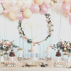 Bridal Shower Decorations Ideas - New ideas Girl Baby Shower Decorations, Wedding Table Decorations, Birthday Party Decorations, Baby Shower Themes, Birthday Parties, Girl Decor, Deco Baby Shower, Floral Baby Shower, Girl Shower
