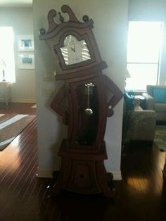 Grandfather clock with some 'tude