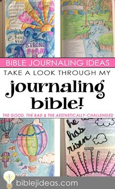 Bible Journaling Ideas: Take a look through my Bible