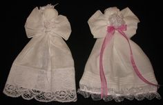 Hanky Church Angel Doll (or Guardian Hanky Angel). When baby girl gets married she uses the hanky on her wedding day, baby boy gives it to his bride.