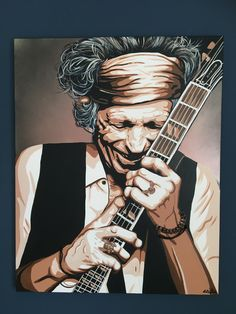 Keith Richards made by Anita Hogeling #keithrichards #rollingstones #anitahogeling #art #legend #portrait