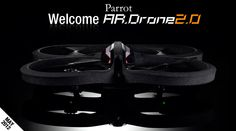 """AR.Drone """"Parrot"""" - Helicopter controlled with iPhone or iPad, has a HD camera... great idea for Father's Day!"""