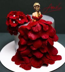 Creative Cake Decorating, Cake Decorating Videos, Birthday Cake Decorating, Cake Decorating Techniques, Creative Cakes, Unique Cakes, Elegant Birthday Cakes, Beautiful Birthday Cakes, Birthday Cakes For Women