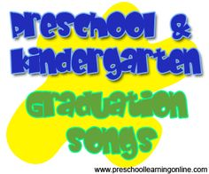 Preschool graduation songs, kindergarten graduation songs and activities for children leaving preschool. Graduation Songs For Kids, Kindergarten Graduation Poems, Pre K Graduation, Graduation Ideas, Preschool Music, Preschool Kindergarten, Preschool Learning, Preschool Programs, Free Preschool