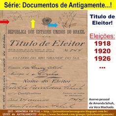 IJUÍ - RS - Memória Virtual: Série > Documentos de Antigamente: Titulo de Eleit...