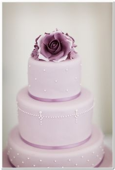 Elegant purple cake