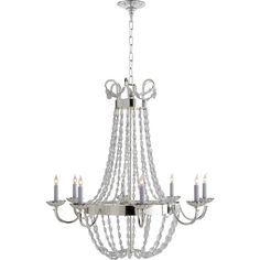 Visual Comfort Paris Flea Market Chandelier ($1,848) ❤ liked on Polyvore featuring home, lighting, ceiling lights, round lamp, visual comfort chandelier, visual comfort lighting, round chandelier and round lights