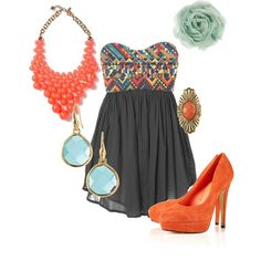 Aztec, created by alliekrukowski  For more visit http://fashion-sketches.net