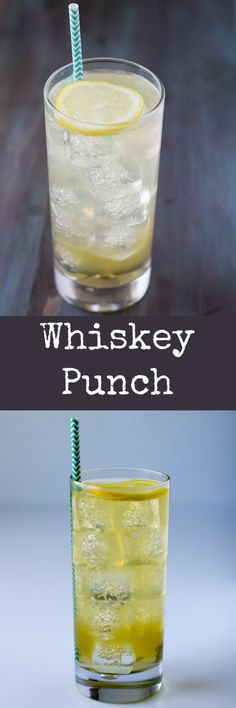 An easy cocktail that isn't too strong, Whiskey Punch is best made in large quantities and shared with friends! Includes recipe for 1 drink or a batch of 12.