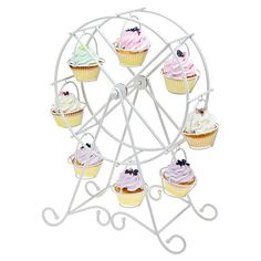 Ferris Wheel Cupcake Holder in White.