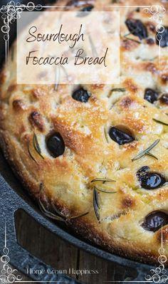 Sourdough Focaccia Recipe, Foccacia Recipe, Sourdough Starter Discard Recipe, Sourdough Recipes, Starter Recipes, Artisan Bread, Comfortfood, Naan, Coco