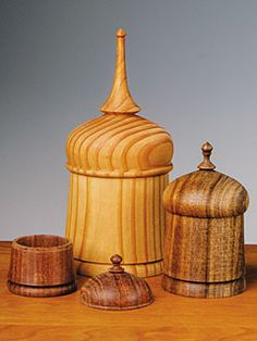 Wood Trinket Boxes by Arizona woodworker Matt Monaco