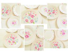 floral porcelain pen plates diy