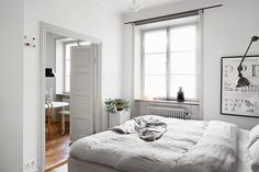 my scandinavian home: A cosy monochrome space in Stockholm
