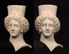 Ancient Greek Artifact Goddess' Head