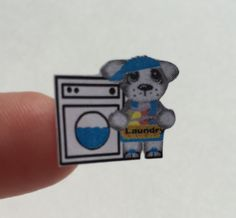 Planner stickers Laundry bear fits Erin Condren by sisscreations