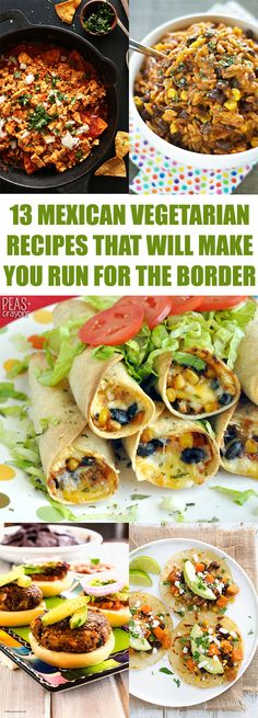 Healthy 30 Minute Dinner Ideas 13 Mexican Vegetarian Recipes That Will Make You Run For The Border Veg Recipes, Mexican Food Recipes, Whole Food Recipes, Dinner Recipes, Cooking Recipes, Healthy Recipes, Mexican Drinks, Easy Recipes, Dinner Ideas