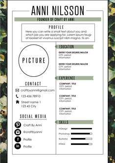 Your resume is one of your best marketing tools. The goal of your resume is to tell your individual story in a compelling way that drives prospective employers to want to meet you. Modern Cv Template, Simple Resume Template, Resume Design Template, Resume Templates, Portfolio Web, Portfolio Resume, Resume Tips, Resume Cv, Cv Original