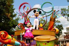 Mickey and Minnie Mouse - Celebrate a Dream Come True Parade - Magic Kingdom