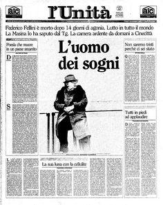 October, 31st 1993 Federico Fellini dies