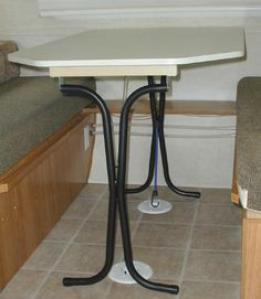 convert legs to folding legs...making table portable and easier to fix the bunk each night