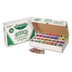 Classpack Regular Crayons 16 Colors (800 per Box)