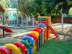 A Arte de Ensinar e Aprender: Brinquedos feitos com pneus