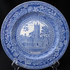 Wedgwood Princeton University Blue Dinner Collector Plate