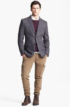 Todd Snyder Grey Wool Herringbone Blazer | Nordstrom