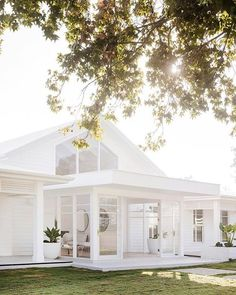 all white farmhouse exterior all white everything white farmhouse exterior with brick White Farmhouse Exterior, Modern Exterior, Exterior Design, White Exterior Houses, White Beach Houses, Beach Cottage Style, White Cottage, Coastal Cottage, Coastal Living Rooms
