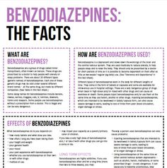 Benzodiazepines | Your Room | NSW Health. Get the facts on the short and long term effects on your body and life, interaction with other drugs, benzodiazepines during pregnancy, tolerance and dependence, withdrawal and more. #knowyourdrugfacts