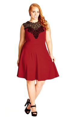 Plus Size Lace Love Dress - City Chic
