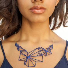 clean and modern #necklace. #3Dprinting #geometry