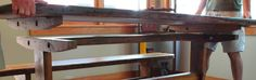 Rustic Trestle Table Reclaimed Barnwood with by ReFabWoodRecyclery, $2,000.00