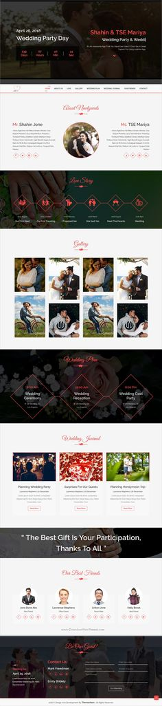 I&U is clean and modern design 4in1 responsive #HTML template for stunning #wedding #invitation website download now..