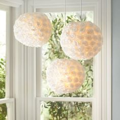 This Flower Ball Pendant might be our favorite light at the moment. #lighting #nursery