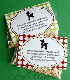 Make reindeer food for your kids to scatter the night before Christmas!  by Simply Designing