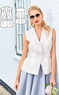 Blouse Burda Feb 2017 http://www.burdastyle.com/pattern_store/patterns/waistcoat-blouse-022017