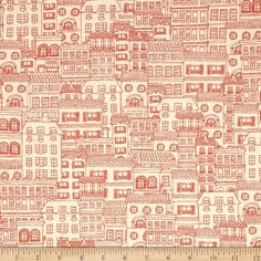 Moda Mon Ami Chez Moi Creme/Rouge from @fabricdotcom  Designed for Moda, this cotton print is perfect for quilting, apparel, and home decor accents. Colors include orange, cream and grey.