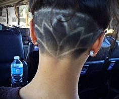 shaved underneath haircut - Google Search