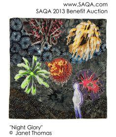 Art quilt by Janet Thomas Textile Fiber Art, Modern Contemporary, Benefit, Auction, Textiles, Quilts, Gallery, Quilt Sets, Quilt