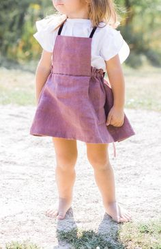 Handmade Linen Pinafore Dress | moonroomkids on Etsy