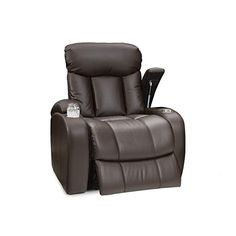 Seatcraft Sausalito Leather Gel Manual Home Theater Recliner With In Arm Storage Brown Review