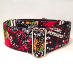 2 inch Martingale Collar, NHL Chicago Blackhawks Camouflage and Logo Fabric Martingale Collar, Greyhound Dog Martingale Collar by fabcollarhounds on Etsy https://www.etsy.com/listing/216994186/2-inch-martingale-collar-nhl-chicago
