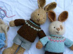 Little Cotton Rabbits now with fair isle jerseys!