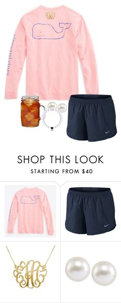 """""""oorn watching 90210:))"""" by thefashionbyem ❤ liked on Polyvore featuring Vineyard Vines, NIKE, Carolee and Ball"""