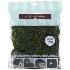 Preserved Sheet Moss   - Green - 112.5 Cubic Inches - 1 Each