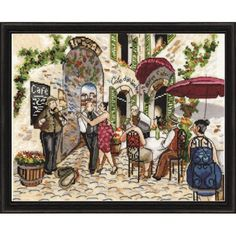 Café Dance Counted Cross Stitch Kit